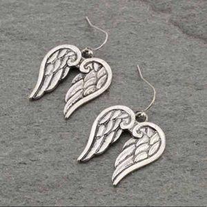 Western Angel Wing Fish Hook Earrings